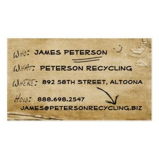 Negocios de las noticias reciclados tarjetas de visita