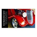 Negocios de pintura autos del coche clásico rojo a plantilla de tarjeta de visita