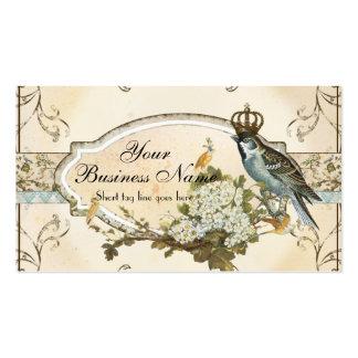Negocios de publicidad encantados de los pájaros d tarjetas personales