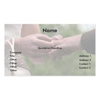 Negocios del boda tarjeta de visita