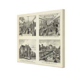 Negocios y residencias, Abilene, Kansas Impresión En Lona