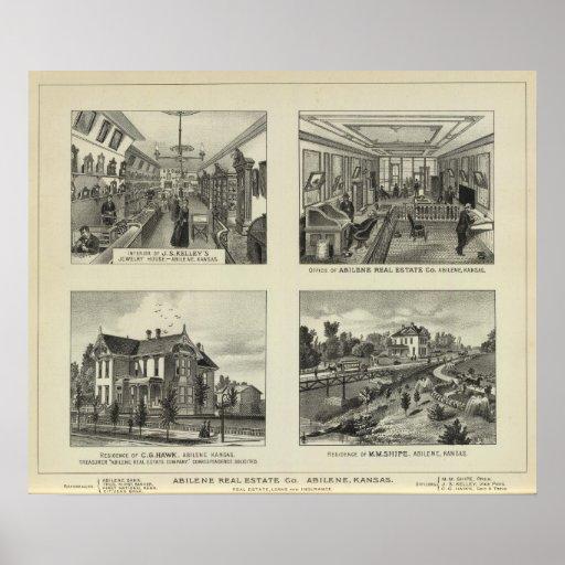 Negocios y residencias, Abilene, Kansas Posters