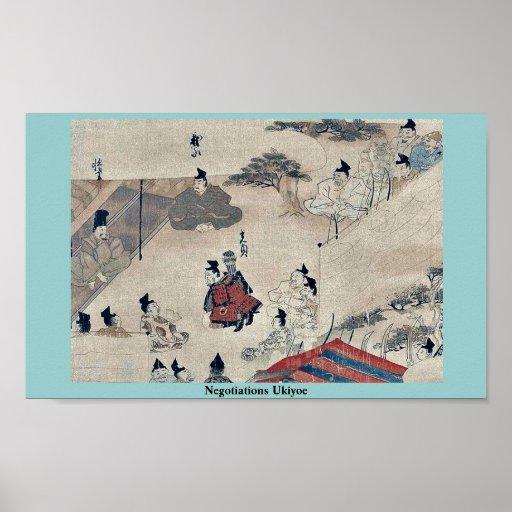 Negotiations Ukiyo-e. Poster