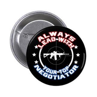 Negotiator Pinback Button
