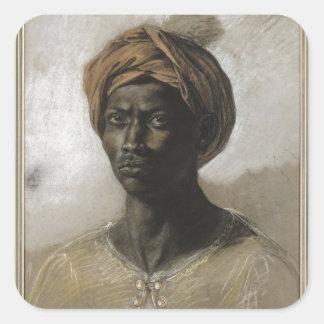 Nègre au turban square sticker