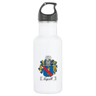 Negrelli Family Crest Water Bottle