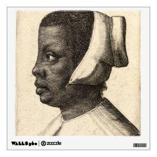 Negress by Wenceslaus Hollar Wall Sticker