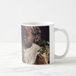 Negress with Peonies Coffee Mug