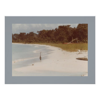 Negril Beach before the Hotels 1984 Canvas Print