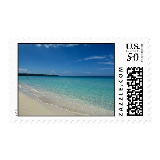 Negril Beach Stamp