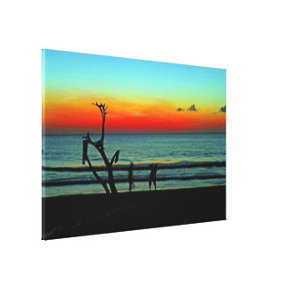 Negril Beach Sunset Canvas Print