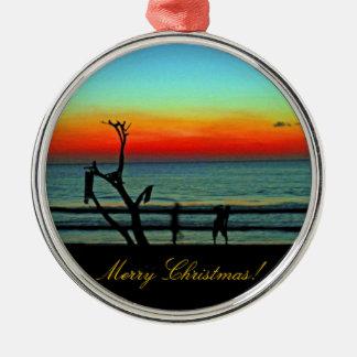 Negril Beach Sunset Metal Ornament