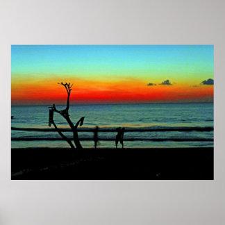 Negril Beach Sunset Poster