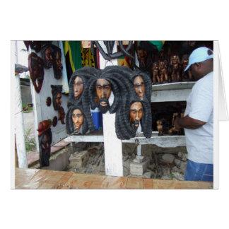 Negril Craft Vendor Greeting Card