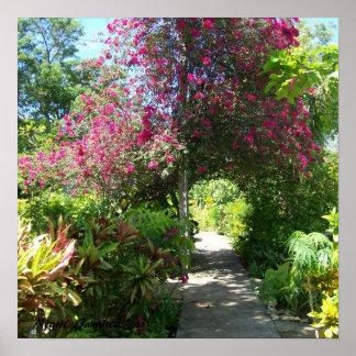 Negril Gardens Jamaican Poster