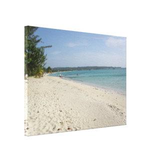 Negril, impresión de la lona de la playa de Jamaic Impresion De Lienzo