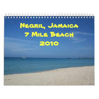 Negril, Jamaica 7 Mile Beach 2010 Wall Calendars
