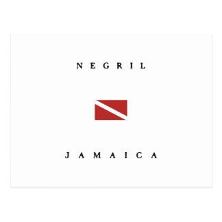 Negril Jamaica Scuba Dive Flag Postcard