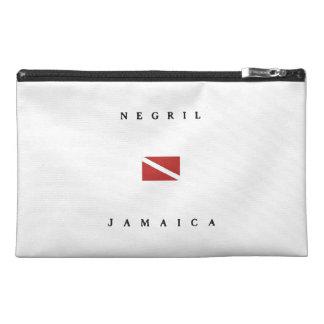 Negril Jamaica Scuba Dive Flag Travel Accessory Bag