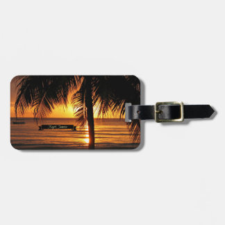 Negril, Jamaica sunset Tags For Luggage