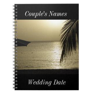 Negril Jamaica Wedding Guestbook Spiral Notebooks