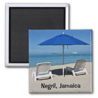 Negril, playa de Jamaica Imán Cuadrado