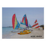 Negril, poster de la playa de Jamaica