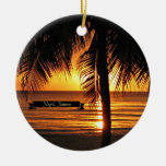Negril, puesta del sol de Jamaica Adornos De Navidad