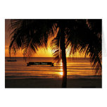 Negril, puesta del sol de Jamaica Tarjeta De Felicitación