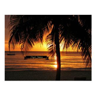 Negril, puesta del sol de Jamaica Postal