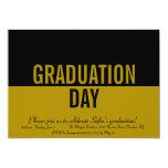 Negrita ORO de la invitación de la graduación del Invitación 12,7 X 17,8 Cm