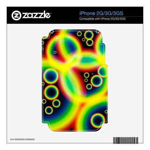 Negro 008.png del diseño del poster del arco iris skins para iPhone 2G