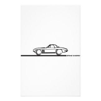Negro 1965 de Hardtop de la pastinaca del Corvette Papeleria De Diseño