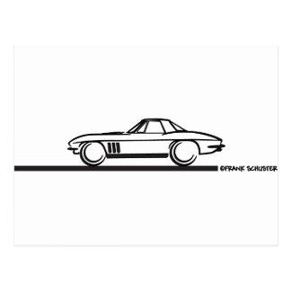 Negro 1965 de Hardtop de la pastinaca del Corvette Tarjetas Postales