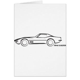 Negro 1968 de Hardtop del Corvette Tarjeton