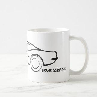 Negro 1968 de Hardtop del Corvette Taza Básica Blanca