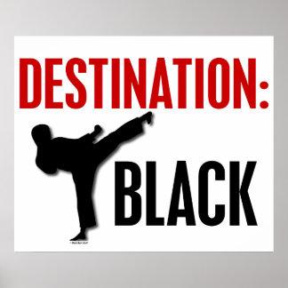 Negro 1 del destino póster