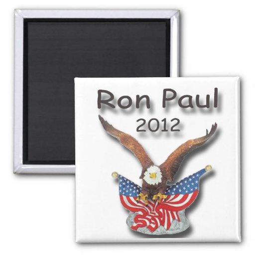 Negro 2012 de Ron Paul Eagle Imán Cuadrado
