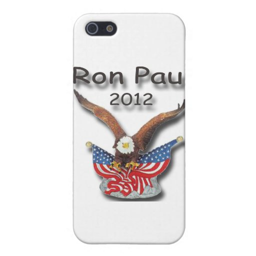Negro 2012 de Ron Paul Eagle iPhone 5 Carcasas
