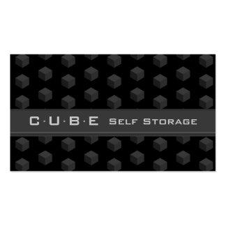 Negro 3D gris de la caja del cubo de la tarjeta de Tarjeta De Visita
