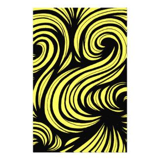 Negro abstracto del amarillo de la expresión de  papeleria