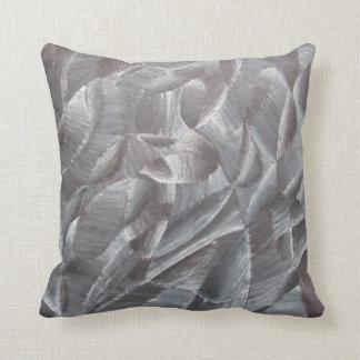 Negro abstracto y blanco almohada