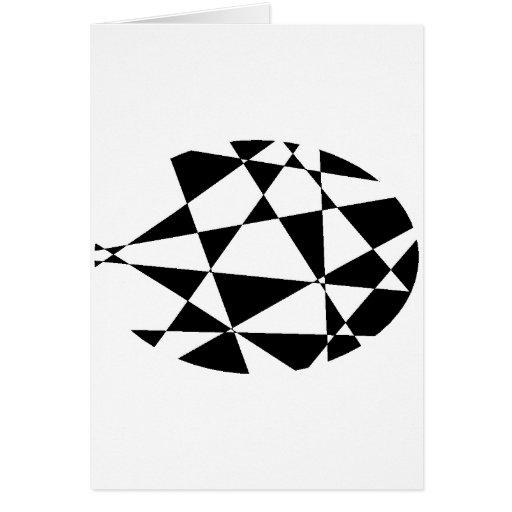 Negro abstracto y blanco tarjeta de felicitación