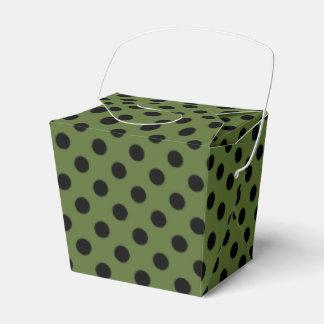 Negro adaptable en lunar del verde verde oliva caja para regalos