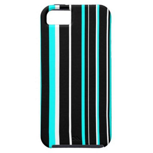 Negro, aguamarina, y caja blanca del iPhone 5/5S iPhone 5 Carcasas
