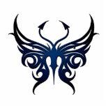 Negro al imán azul de la mariposa esculturas fotográficas