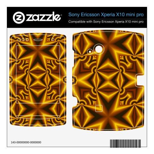 Negro amarillo cruzado xperia x10 skin