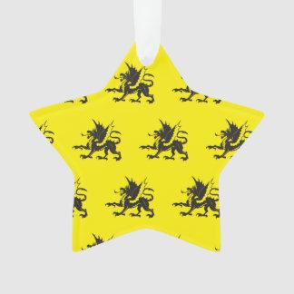 Negro amarillo de los dragones