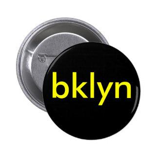 negro/amarillo del botón del bklyn pin redondo de 2 pulgadas