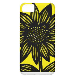 Negro, amarillo, flores, florales